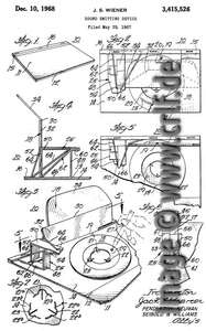 Jack Wiener, Patent Drawing, Sound emitting device